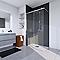 Paroi de douche verre décor design 90 cm Walk In Solo Light