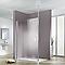 Paroi de douche verre transparent 100 cm Walk In Solo Light