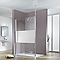 Paroi de douche verre décor design 120 cm Walk In Solo Light