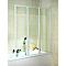 Pare-baignoire 126,8x 140 cm, 3 volets, Golf décor Quattro
