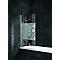 Pare-baignoire 80 x 140 cm, 1 volet, décor cercles