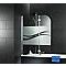 Pare baignoire anticalcaire 112 cm, 2 volets, chromé Liane