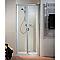 Porte de douche pliante Phoenix 90 cm blanc
