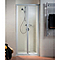 Porte de douche pliante Phoenix 90cm alu+anti-calcaire
