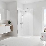 Lot de 2 panneaux muraux salle de bains 90 x 210 cm, Schulte DécoDesign Couleur, blanc