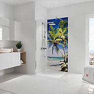 Panneau mural salle de bains 90 x 210 cm, Schulte DécoDesign Photo, palmiers