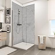 Lot de 2 panneaux muraux salle de bains 100 x 210 cm, Schulte DécoDesign Décor, pierre gris clair
