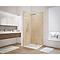 Lot de 2 panneaux muraux salle de bains Schulte DécoDesign décor travertin 100 x 207 mm