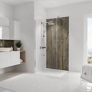 Panneau mural salle de bains 100 x 210 cm, Schulte DécoDesign Décor, bois veilli