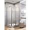 Accès d'angle coulissant 75 x 90 cm aluminium argenté Sunny