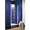 Porte de douche pivotante 90 cm profilés argentés Sunny I