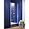 Porte pivotante profilés blancs 90 cm + anticalcaire Sunny
