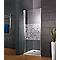 Porte de douche pivotante décor cercles 80 cm NewStyle