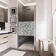 Porte de douche pivotante, 80 x 192 cm, Schulte NewStyle, verre transparent anticalcaire, Cercles