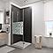 Porte de douche pivotante décor cercles 90 cm NewStyle