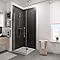 Porte de douche pivotante transparente 100 cm NewStyle