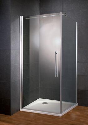 Ensemble porte paroi pivotante transparente 90 cm Porte pliante 90 cm transparente