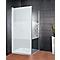 Paroi de douche fixe transp. décor softcube 80 cm NewStyle