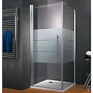 Paroi de douche fixe 90cm dépoli anticalcaire NewStyle