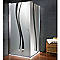 Paroi de douche fixe transp. décor liane 90 cm NewStyle