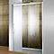 Porte coulissante transparente ouv. droite 120 Manhattan II