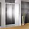 Porte de douche transparente coulis. droite 140 cm Manhattan
