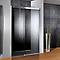 Porte de douche anthracite coulis. droite 140 cm Manhattan