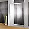 Porte de douche ouverture droite transparent 140 cm Manhattan