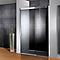 Porte de douche anthracite coulis. gauche 160 cm Manhattan