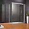 Porte de douche coulissante droite transparent 160 cm Manhattan
