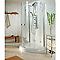 Porte de douche 1/2 lune ray.55 cm anti-calcaire MasterClass