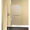 Pare-baignoire 100 x 140 cm, Schulte Corse, 1 volet pivotant + 1 volet fixe, verre transparent anticalcaire