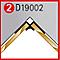 Profil d'angle intérieur chromé