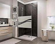 Paroi de douche fixe à l'italienne, 100 x 190 cm, Schulte NewStyle, Walk In, verre transparent anticalcaire, Liane