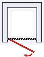 Porte de douche pivotante, 80 x 192 cm, Schulte NewStyle, verre transparent anticalcaire, Mistral