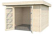 Abri bois toit plat Volga 12,21 m² ép.28 mm