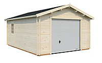 Garage bois Danube avec porte sectionnelle 19,1m²