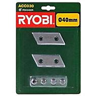 2 lames pour broyeur Ryobi RSH2400R