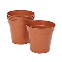 5 pots ronds plastique Verve Lei ø13 x h.15 cm