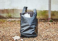 5 sacs à gravats ultra-résistants noir 50L