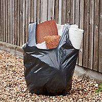 5 sacs à gravats ultra-résistants noir 70L