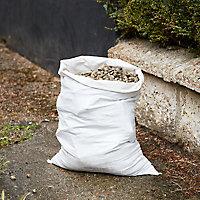 5 sacs à gravats ultra-résistants plat blanc 50L