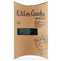 50 anneaux tuteur tige Verve Kitchen Garden vert