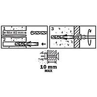 50 chevilles Diall nylon CL PZ Ø6x30mm