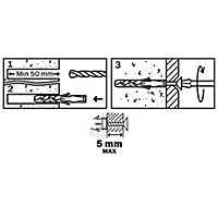 50 chevilles Diall nylon CL PZ Ø8x40mm