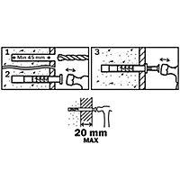 50 chevilles à frapper Diall nylon CS PZ Ø8x60mm