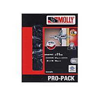 50 chevilles métal pour matériaux creux Molly M5x50mm