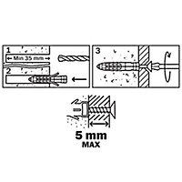 50 chevilles universelles Diall nylon CL PZ Ø5x25mm