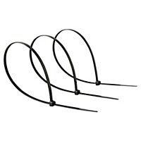 50 colliers de serrage en nylon Diall 4,8 x 350 mm Noir