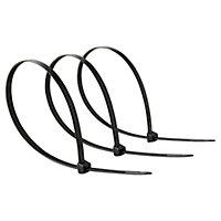 50 colliers de serrage en nylon Diall 7,5 x 400 mm Noir